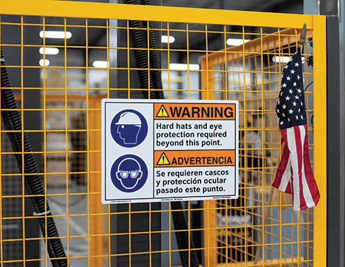Standards and best practices for workplace safety signs