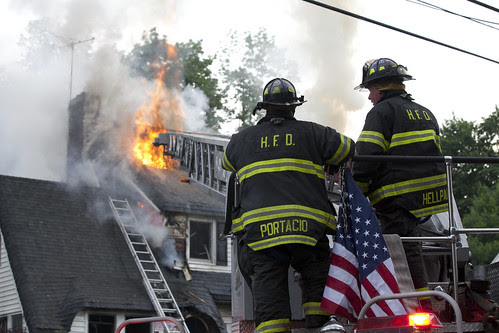 House Fire on Clinton Place in Hackensack, New Jersey by Anthony Quintano