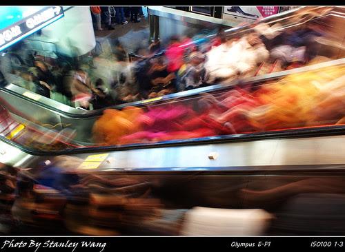 捷運。人潮