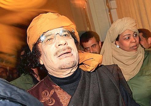 Mouammar Kadhafi le 8 mars à Tripoli, alors qu'il s'apprêtait à donner plusieurs interviews télévisées.
