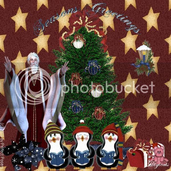 Christmas,Santa Claus,Penguins