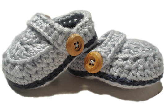 Crochet baby booties, baby boy booties, Blue crib shoes, Crochet allees for boys, Crochet baby shoes