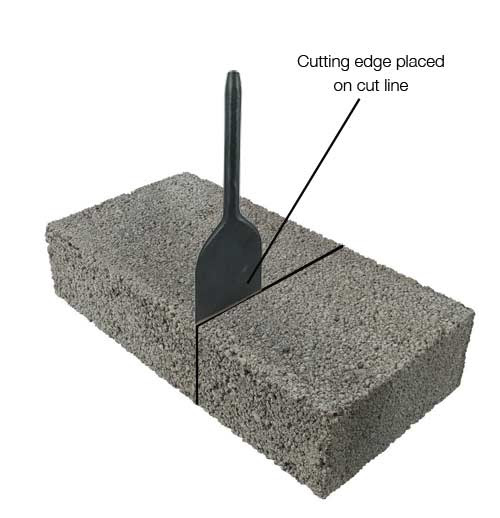 Using a Brick Bolster to Cut Bricks and Blocks Also Including Different Types of Chisel
