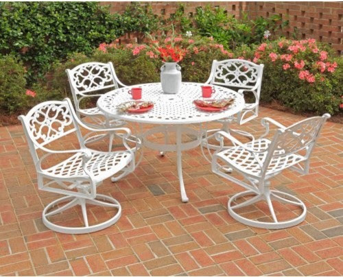 Home Styles Biscayne 48 in. Swivel Patio Dining Set - Seats 4 ...