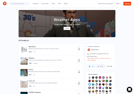 Weather Apps - Predict the future! (rain or shine) by Product Hunt