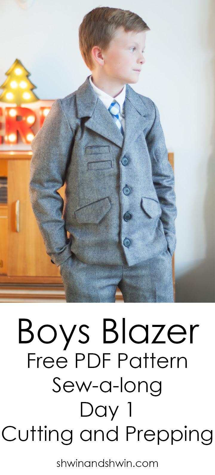 Boys Blazer Pattern Sew-a-long ||FREE PDF Pattern || Cutting and Prepping