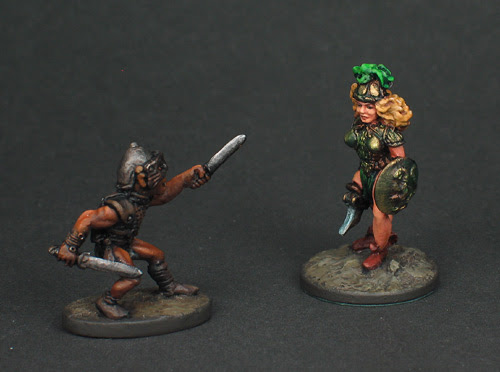 Grenadier Dragon Lords Goblin vs. Fighting Woman