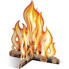"""Beistle 3D Campfire Centerpiece, 12"""""""