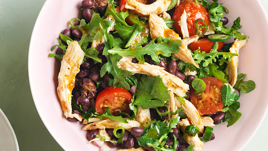 Chicken, Black Bean and Arugula Salad Recipe
