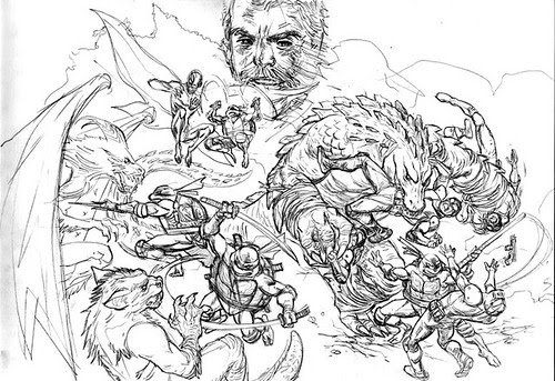 "Tales- 50 cover Pencils ..by Paul Harmon for the upcoming ""Tales of the TMNT"" v2. #50 [[ Via Steve Murphy ]]"