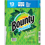 Bounty Prints Select-A-Size Paper Towels, 12 Rolls