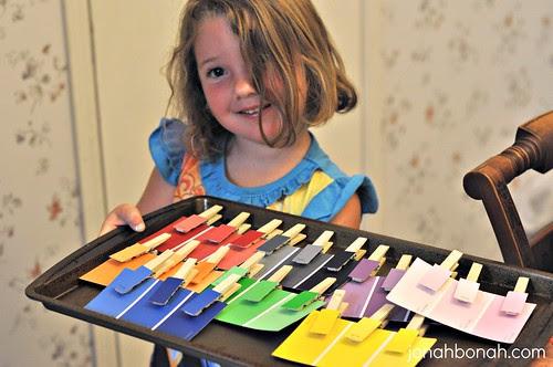 Preschool Paint Chip Activity