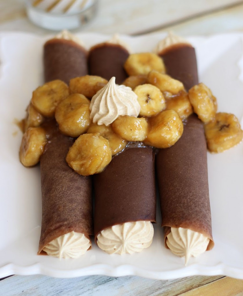 chocolate crepes with peanut butter marshmallow filling and caramelized bananas 9