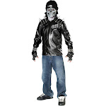 Metal Skull Biker Costume for Kids - Size Large