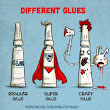 Different Kinds of Glues as Illustrated Characters