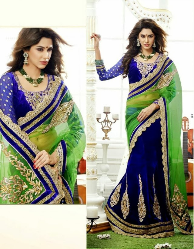 Bridal-Wedding-Rich-Heavy-Embroidered-Sarees-Designs-Lehanga-Style-Fancy-Sari-New-Fashion-4