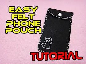 Tutorial : Easy Felt Phone Pouch