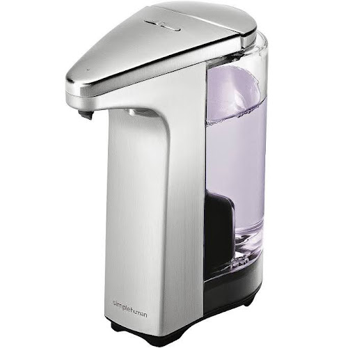 Simplehuman Compact Sensor Pump Soap Dispenser With Sample Brushed Nickel