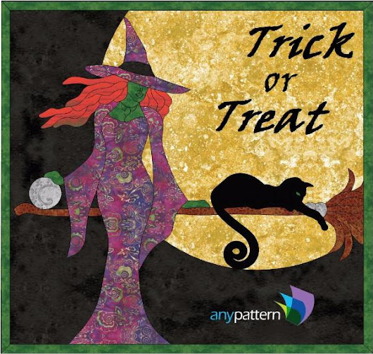 Halloween-Sexy Witch Applique