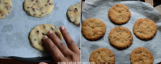 Eggless chocolate chip cookies step 4