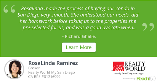 Richard Ghalie recommends RosaLinda Ramirez at Realty World My San Diego