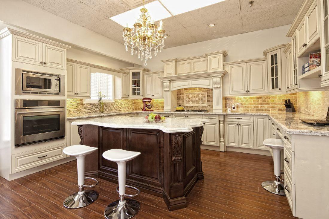 Antique White Kitchen Cabinets - Living Edge Kitchen Bath ...
