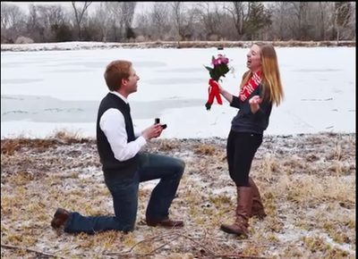 Claire & Jake's Perfect Proposal Story  in Kansas City Perfect Wedding Guide: Vote on the Proposal Story the Melts Your Heart
