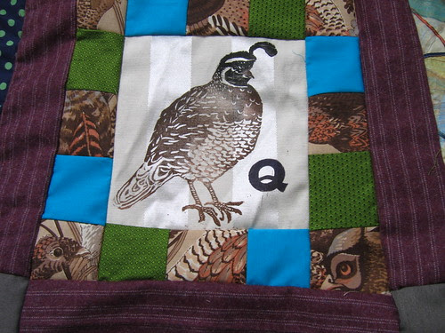 Q is for quail & quilt