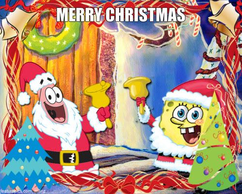 Spongebob Squarepants Christmas Wallpaper