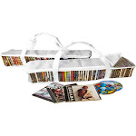 Evelots 2 CD Portable Zippered Clear Vinyl Storage Bag, Holds 94 Total White