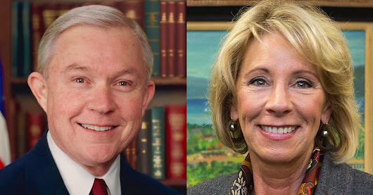 DeVos Opposes Trump Order That Will Rescind Obama Guidance on Transgender Students, but Caves to Sessions