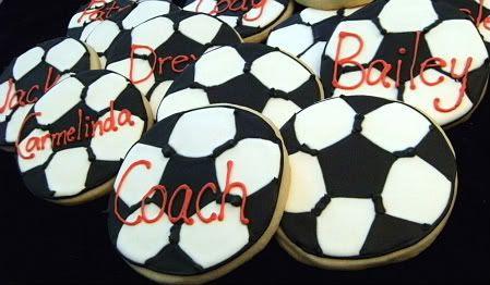soccer cookies team