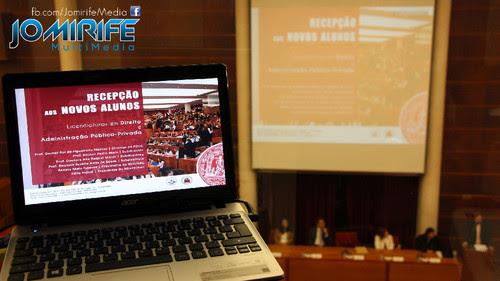 Audiovisual da sessão Recepção ao novos alunos