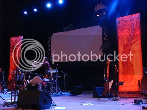 Neko Case - stage set @ Massey Hall: photo by Michael Ligon