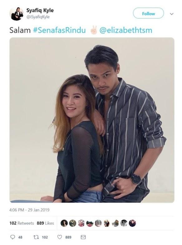 #Hiburan: Amboi, Melampau Rapat Dia – Netizen Komen Sayfiq Kyle Dan Elizabeth Tan Bergambar Mesra