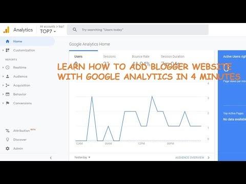 Add blogger website to google analytics
