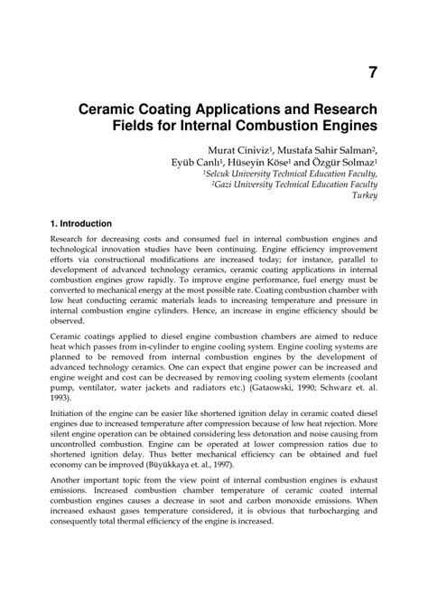 (PDF) Ceramic Coating Applications and Research Fields for