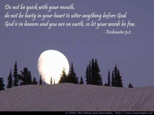 Inspirational illustration of Ecclesiastes 5:2