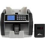 Royal Sovereign - Front-Loading Bill Counter with Counterfeit Detection - Black/Silver