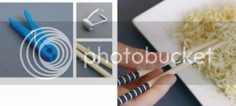 Clothes Peg as Chopsticks Holder