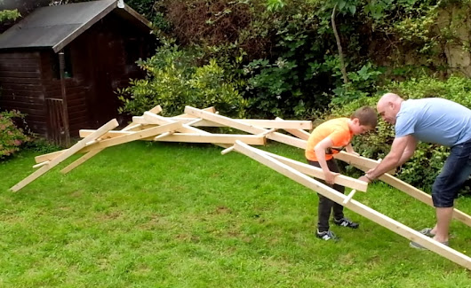 How to make Leonardo da Vinci's self-supporting bridge | The Kid Should See This