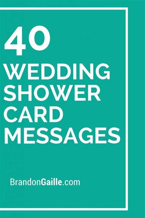 40 Wedding Shower Card Messages   Wedding, Messages and
