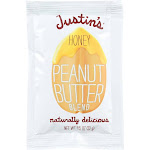 Justin's Nut Butter Squeeze Pack - Peanut Butter - Honey - Case Of 10 - 1.15 Oz.