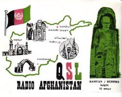 QSL-kort från Radio Afghanistan