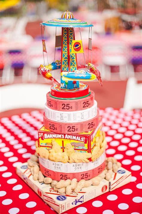adorable centerpiece idea   carnival party  www