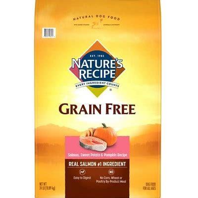 natures recipe grain  salmon dog food review recalls