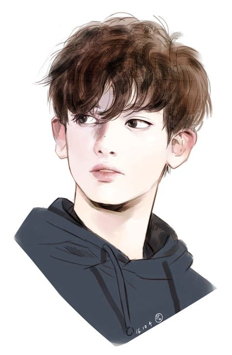 fanart  chanyeol    soo cute  dis exo