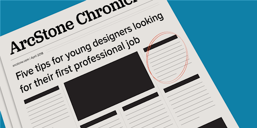 Five tips for young designers looking for their first professional job