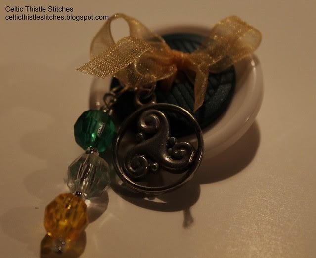 St Patricks Day button brooch