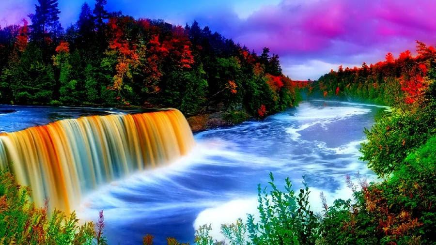 Niagara Falls Wallpaper Free Download Fishing At A Waterfall Wallpaper Wallpaper Wide Hd